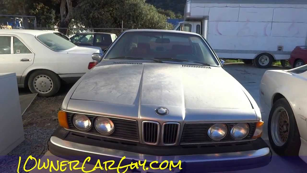 E24 BMW 630CSi 6 Series Coupe 1 Owner For Sale Cheap 895  YouTube