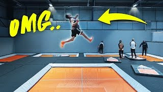 INSANE WORLDS FIRST AT TRAMPOLINE PARK!