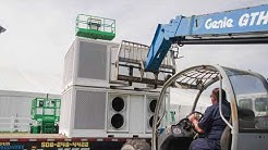 Large Event Rental Cooling Installation