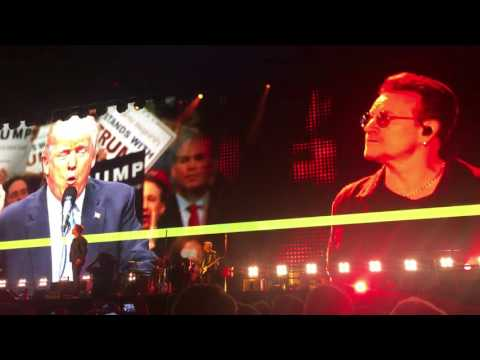 "U2's Bono 2016 Election Anti Trump ""The Candidate"" Speech - #df16 - Dreamfest"