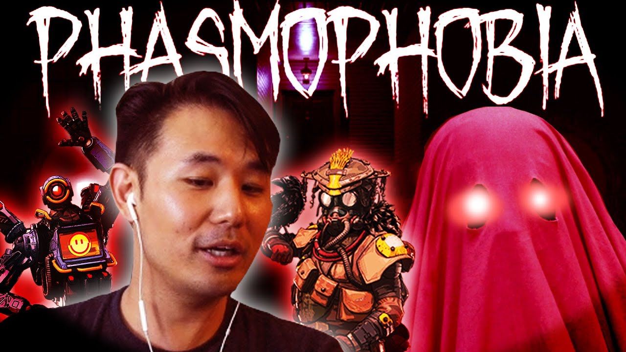 WHY ARE WE PLAYING THIS... Apex Legends Crypto Pathfinder and Bloodhound Play Phasmophobia