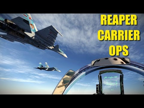Reapers In Stressful Bad Weather Low Visibility Aircraft Carrier Op | Su-33 Su-25 | DCS