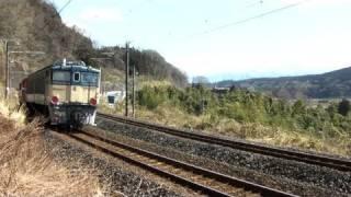 EF63形 甲種輸送 12号機のJR線走行(No.4)EF64-1020+DD51-888+EF62-12