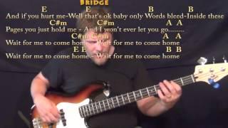Photograph (Ed Sheeran) Bass Guitar Cover Lesson in E with Chords/Lyrics