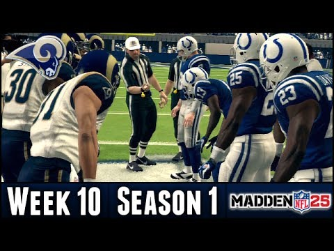 Madden 25 Rams Connected Franchise - Week 10 @ Colts - Season 1