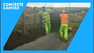 Concrete Canvas (CC) Ditch Lining - M1, UK - Costain/Carillion Joint Project