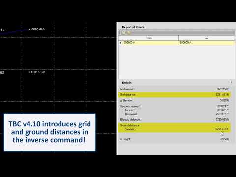 Cadastral - Ground Scale Factor and Ground Distances in TBC v4.10