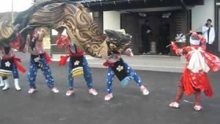 七尾市東浜の獅子舞2011年