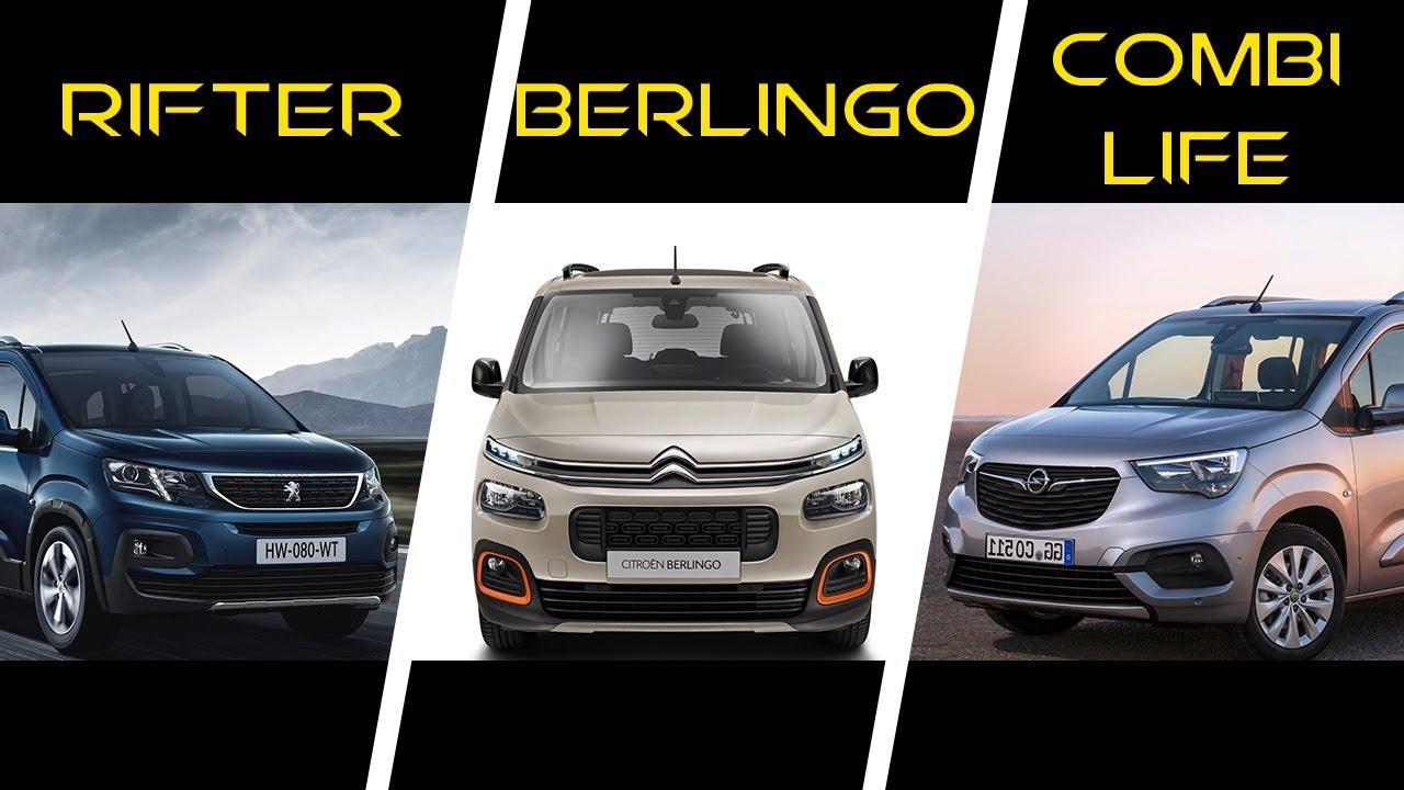 2018 Peugeot Rifter Vs 2018 Citroen Berlingo Vs 2019 Opel Combo Life