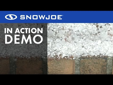 MELT - Snow Joe Calcium Chloride Crystals Ice Melter - Live Demo