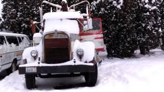 Cold Start 1945 Kenworth Log truck