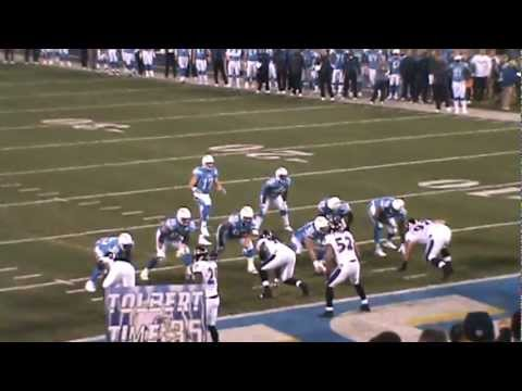 San Diego Chargers Mike Tolbert Touchdown vs Ravens