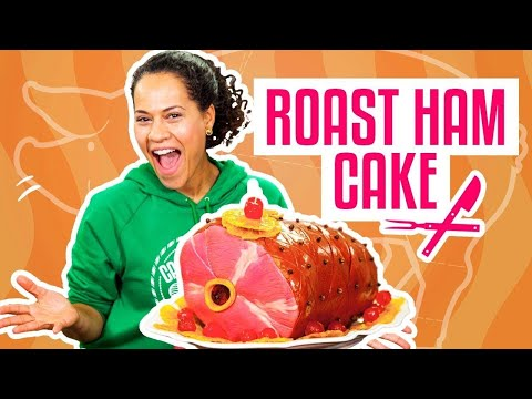 Thumbnail: How To Make A THANKSGIVING ROAST HAM Out Of Pink Vanilla CAKE | Yolanda Gampp | How To Cake It