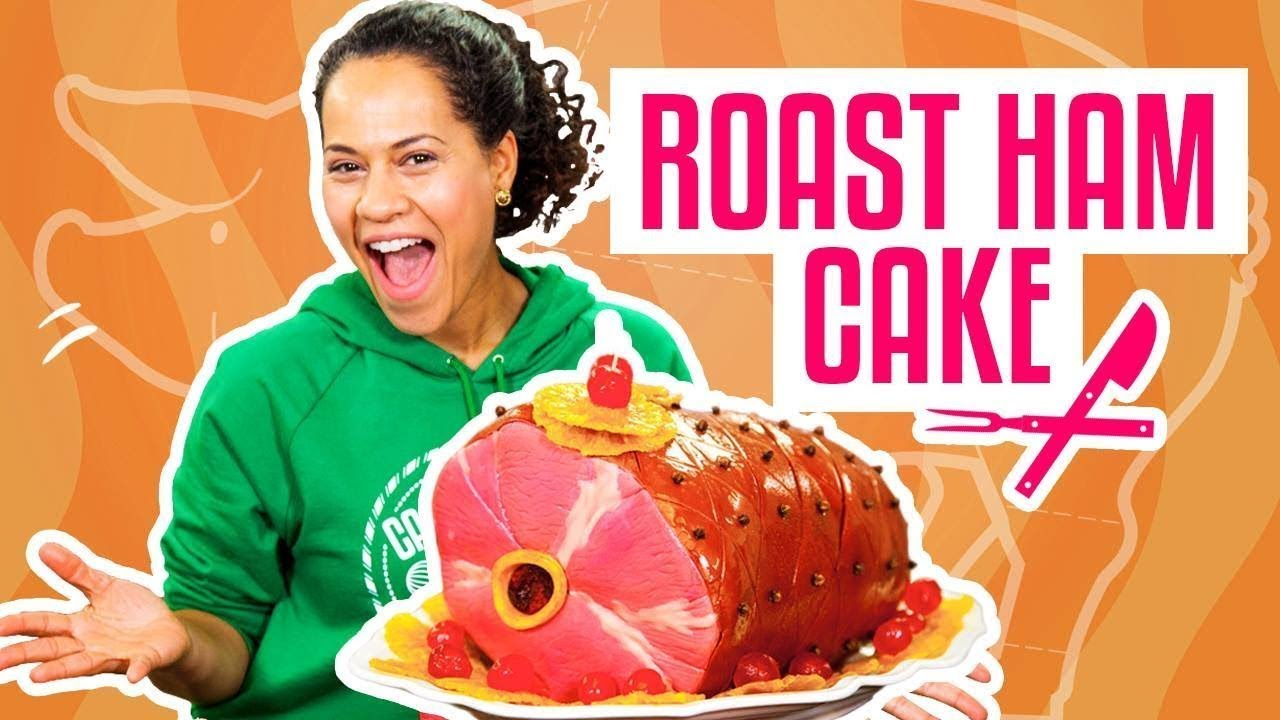 how-to-make-a-thanksgiving-roast-ham-out-of-pink-vanilla-cake-yolanda-gampp-how-to-cake-it