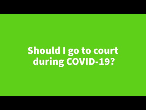 Should I go to court during COVID-19? from YouTube · Duration:  7 minutes 23 seconds