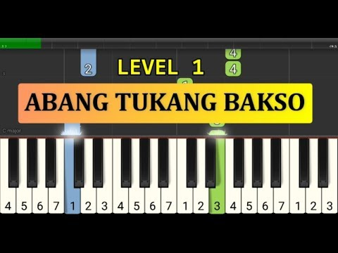 Nada Piano Abang Tukang Bakso - Tutorial Piano Grade 1 - Lagu Anak Anak Indonesia - Not Pianika