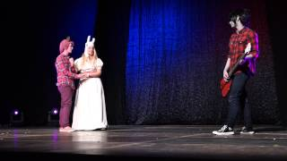 """Prince Gumball, Fionna and Marshall Lee - """"Adventure Time"""" Group performance [UniCon 2015] Riga"""