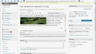 видео Анонсы записей wordpress, тег more, создание анонсов, цитаты