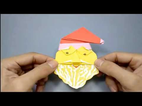 Christmas Origami Santa Claus - How to make an easy Origami Santa Claus | DIY paper crafts