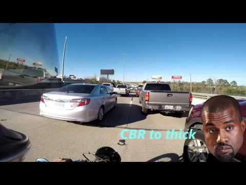 Lane splitting action Houston