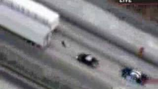 Man outruns police on the highway on a bicycle!!!