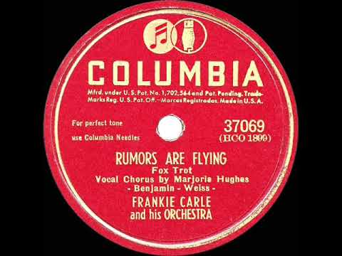 1946 HITS ARCHIVE: Rumors Are Flying - Frankie Carle (Marjorie Hughes, vocal) (a #1 record) mp3