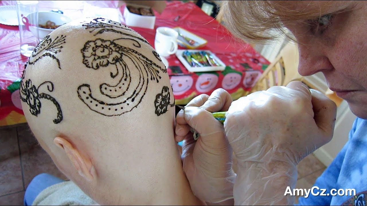 Mehndi Body Art Quality Henna : Mehndi henna tattoo design after chemotherapy hair loss youtube