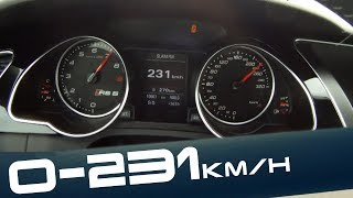 Audi RS5 0-231 km/h Launch Control VERY FAST! Acceleration Beschleunigung Autobahn Test