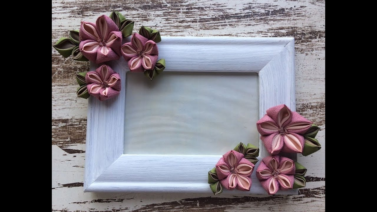 How to decorate a Picture Frame with flowers / Como decorar tu ...