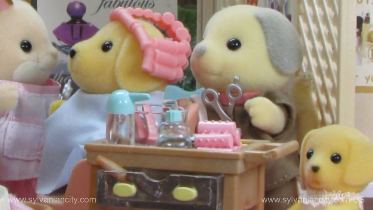 Sylvanian Families  Barker Sisters At The Beauty Salon  YouTube