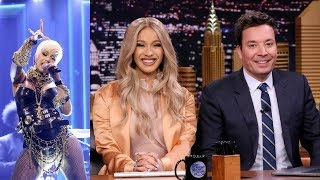 CARDI B has AWKWARD MOMENT with JIMMY FALLON on The Tonight Show!
