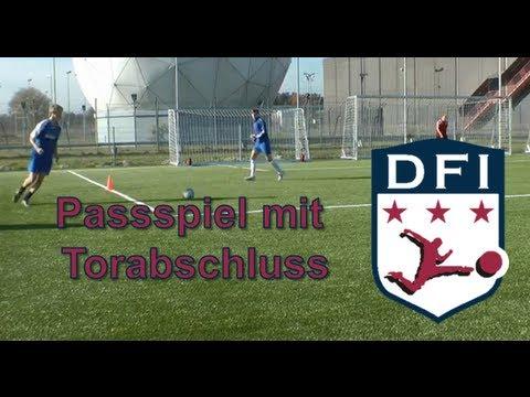 Traingseinheit Zum Passspiel Ubung 3 Mit Torschuss Am Deutschen Fussball Internat Bad Aibling