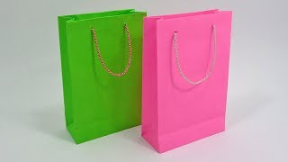 Paper Bag Making At Home How To Make Shopping Bag With Paper Youtube