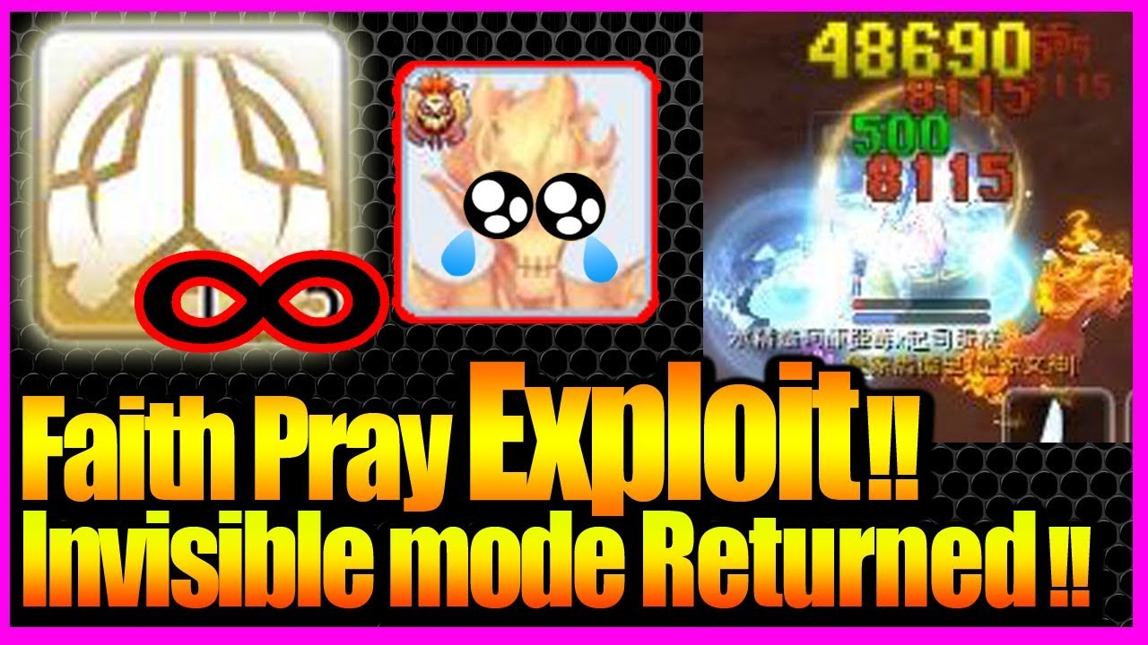 Invisible Mode Returned!! New Faith Pray Exploit! [Ragnarok M Eternal  Love][FIXED]