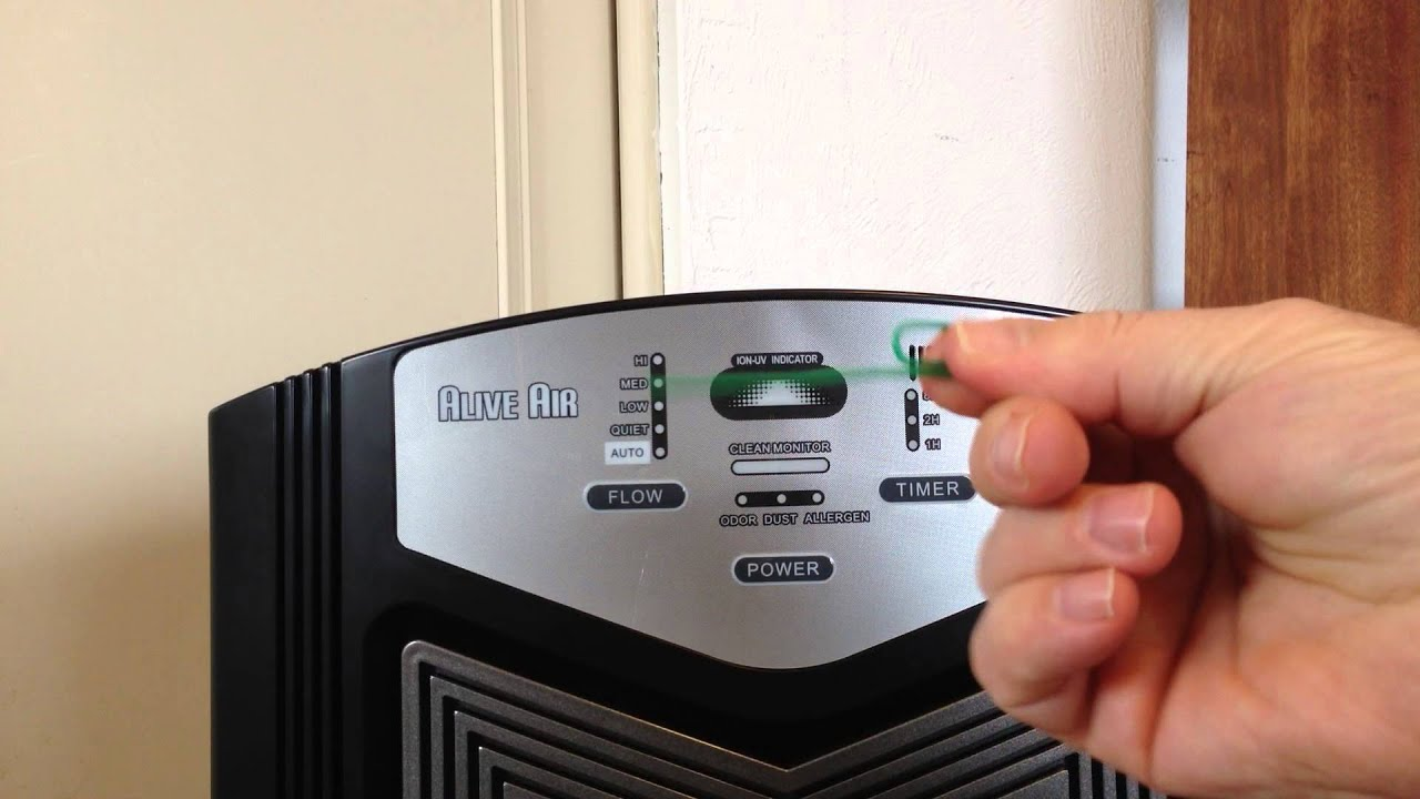 Alive Air Purifier Resetting The Cleaning And Replacement Lights