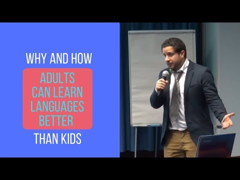 Why and how adults can learn languages better than kids