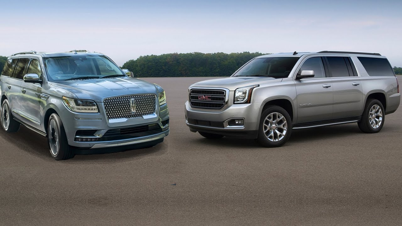 GMC Yukon XL Denali vs Lincoln Navigator - YouTube