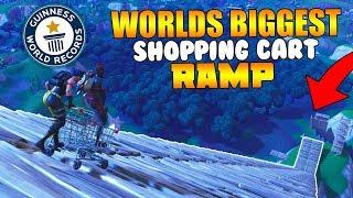 WORLDS BIGGEST 'Shopping Cart' RAMP! (Fortnite Battle Royale)