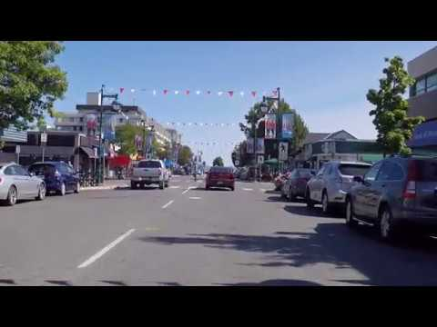 Driving In Sidney BC Canada - Downtown / City Centre - Coastal Town Vancouver Island Tour