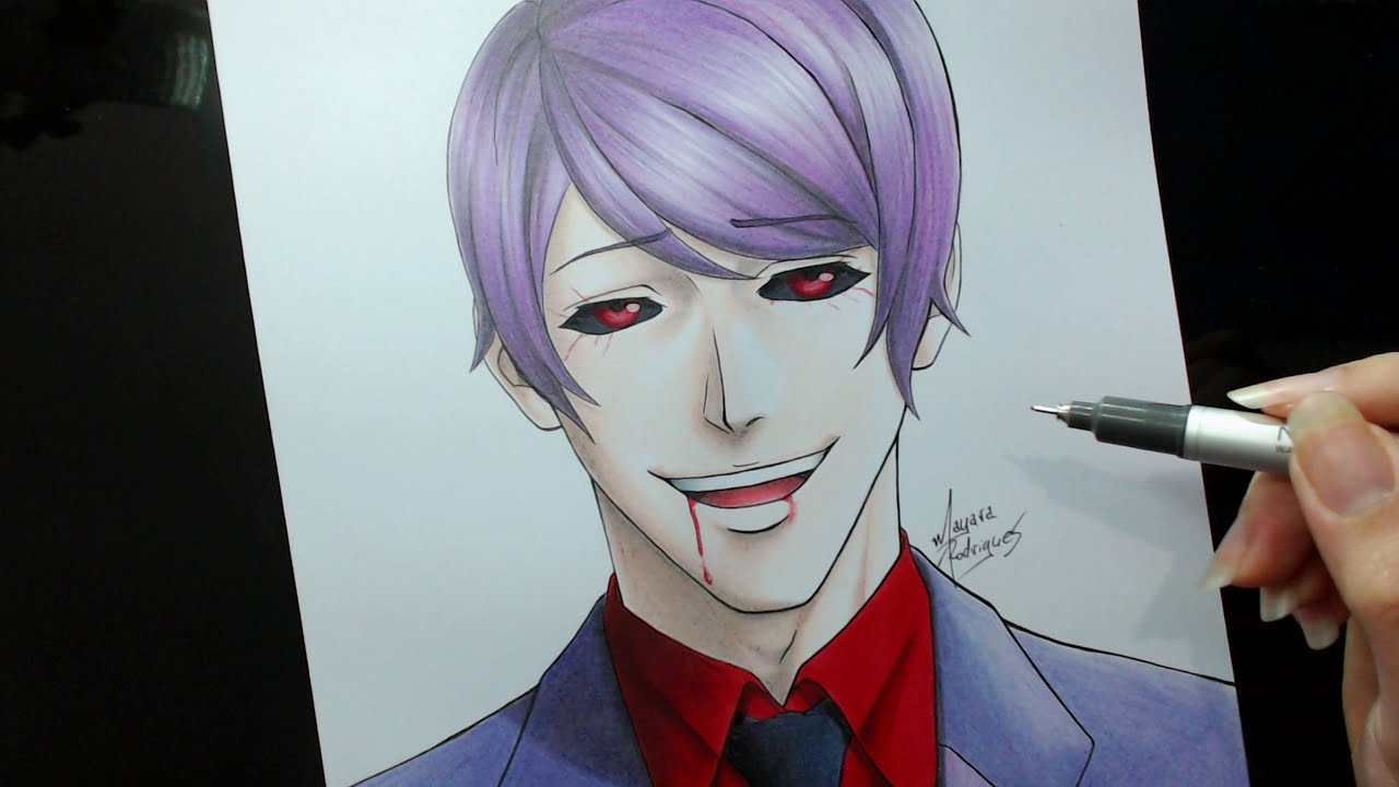 how to draw kaneki eyes