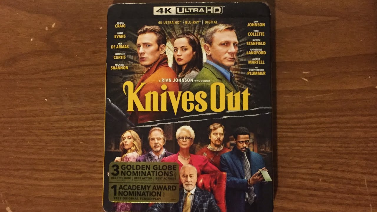 Knives Out (2019) 4K Ultra HD Unboxing