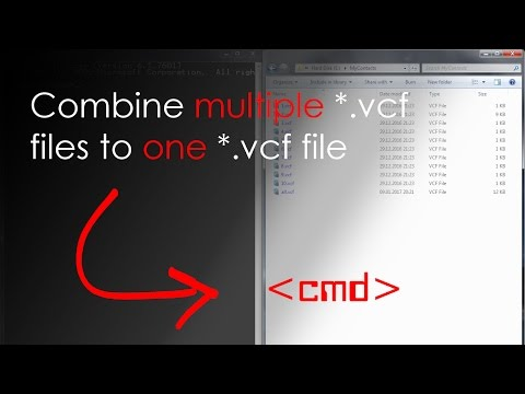 HowTo: Combine VCard/*.vcf Files To A Single VCard/*.vcf File