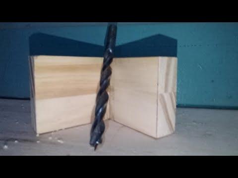 SIMPLE como hacer PLANTILLA escuadra para perforar recto a 90 grados