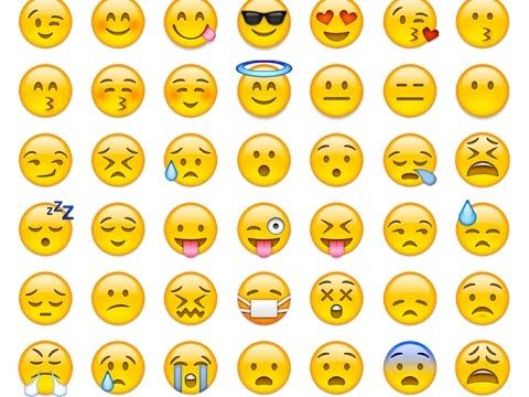 Names and pictures of emojis