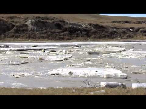 Ice Jam on the Little Missouri River