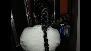 DIY COCONUT HAIR OILING AND FRENCH BRAID HAIR STYLE (VIEWER REQUESTED VIDEO)