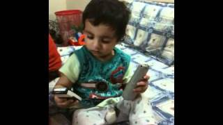Shayan enjoying ringtone