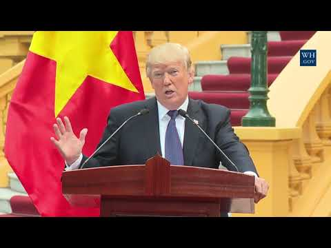 NEWS ALERT - PRESIDENT TRUMP WARNS NORTH KOREA ON FUTURE PROVOCATION, VIETNAM
