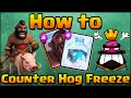 Clash Royale - How to Counter Hog Rider + Freeze Spell Guide | Clash Royale Strategy, Tips & Tricks