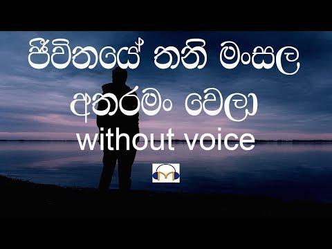 Jeewithaye Thani Mansala Karaoke (Without voice) slow version